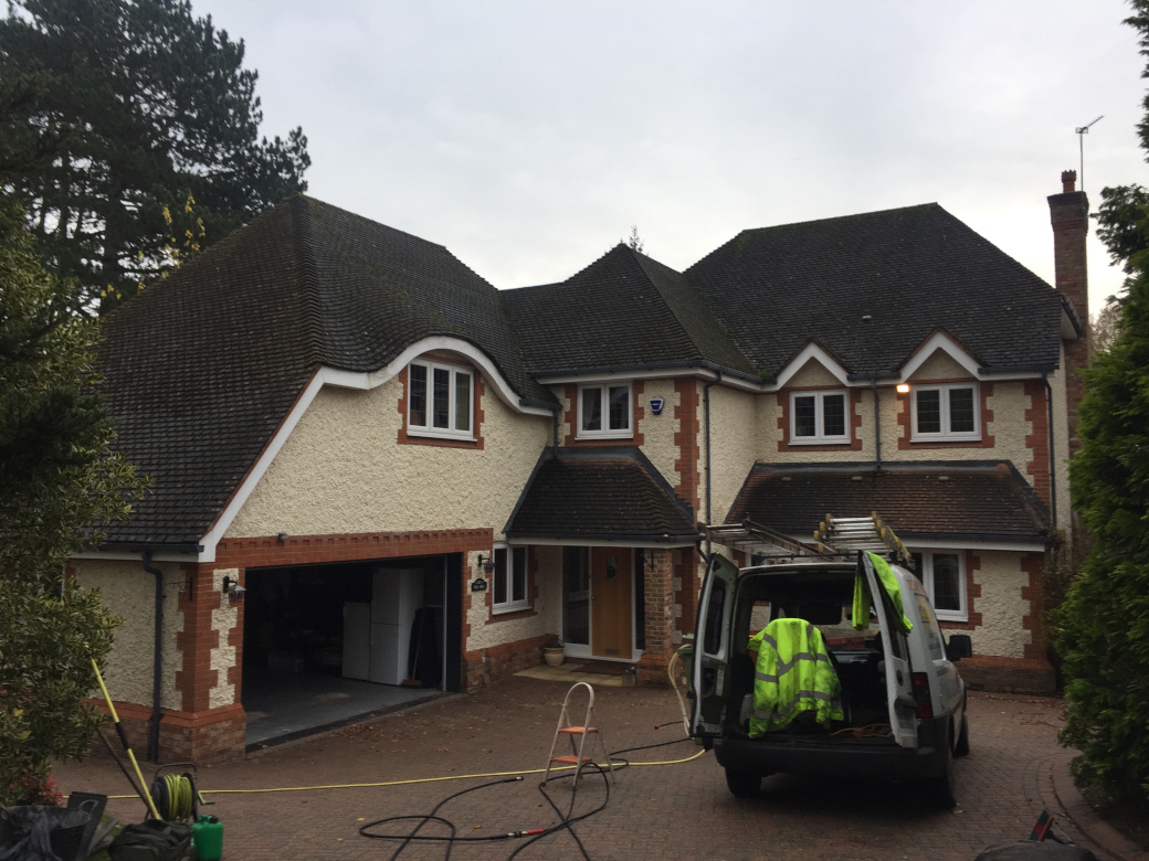 Roof cleaning by Roof Clean Cheshire.