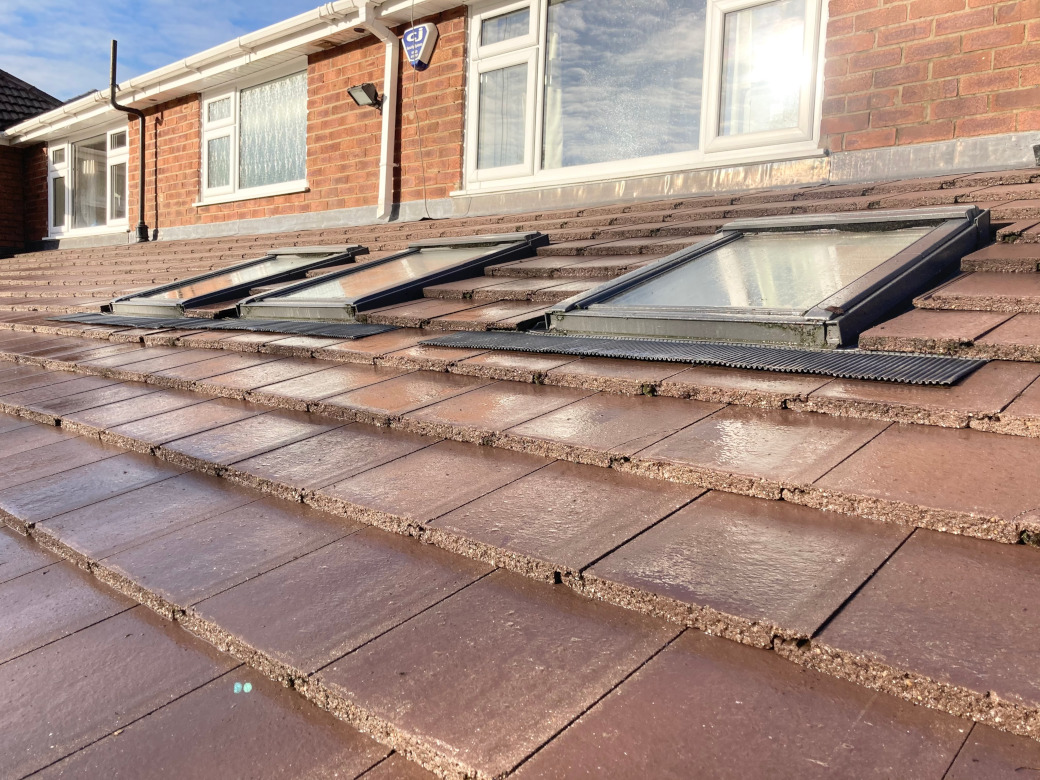 Roof cleaning in Macclesfield.