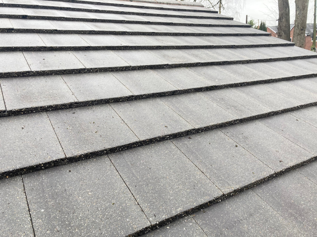 Roof cleaning in Altrincham.